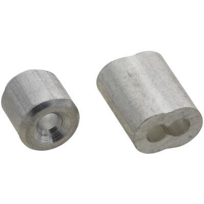 National 3/32 In. Aluminum Garage Door Ferrule & Stop Kit