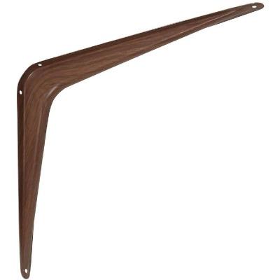 National 211 10 In. D. x 12 In. H. Fruitwood Steel Shelf Bracket