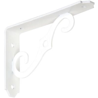 National 152 5 In. D. x 3-1/2 In. H. Antique White Steel Ornamental Shelf Bracket/Plant Hanger