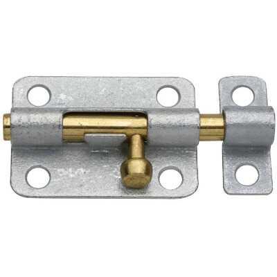 National 3 In. Galvanized Steel Door Barrel Bolt