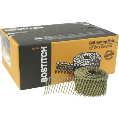 Bostitch 15 Degree Wire Weld Galvanized Coil Siding Nail, 2-1/2 In. x .092 In. (3600 Ct.)