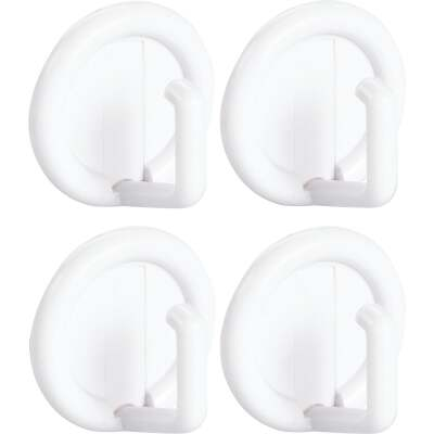 InterDesign Axis Utility Round White Adhesive Hook