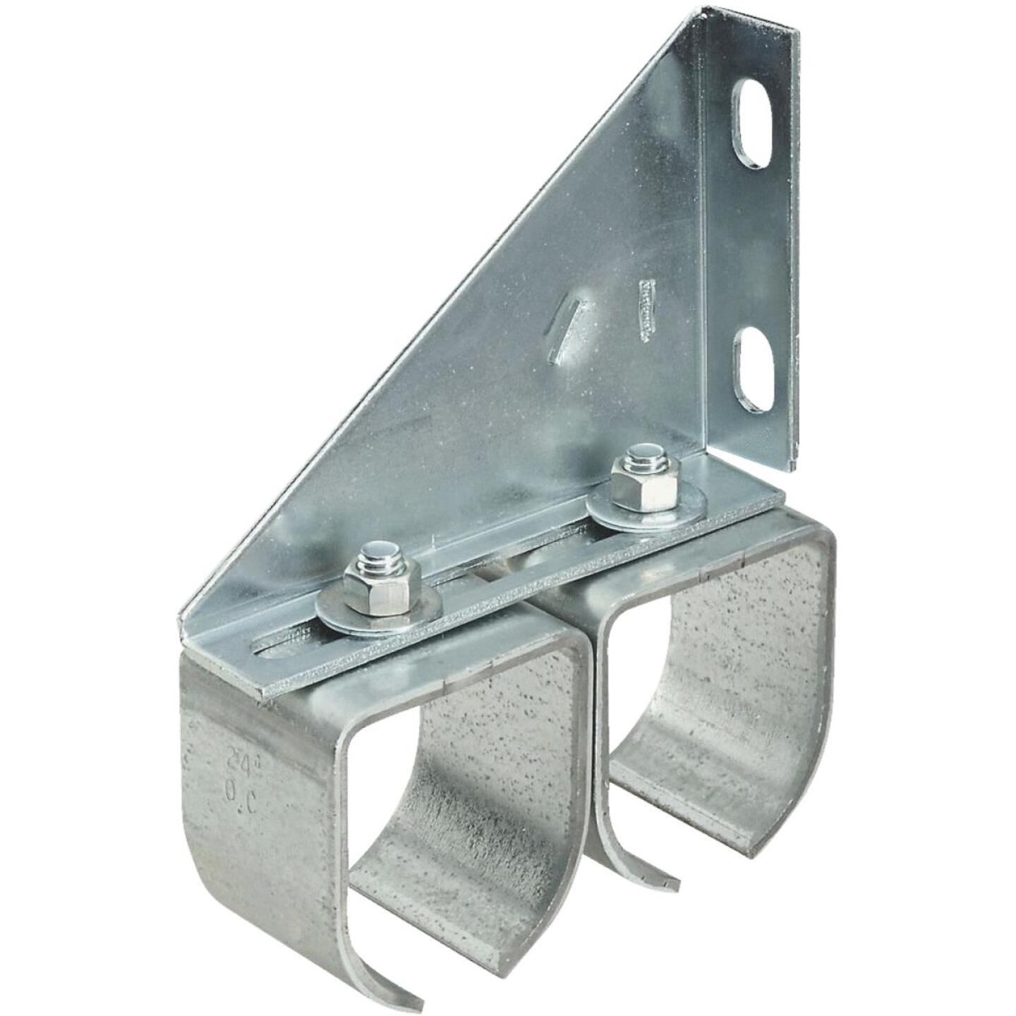 National Galvanized Double Round Rail Barn Door Bracket Image 1
